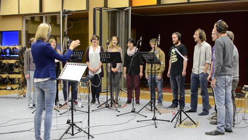 Gospelchor Sachseln (OW) bei den Studioaufnahmen bei GabrielRecording