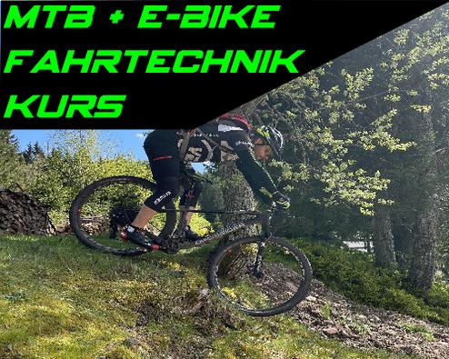 Mountainbike MTB und E-Bike Fahrtechnik Kurse und Training im Schwarzwald