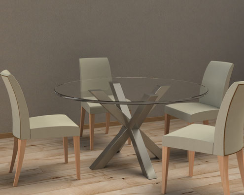 pied de table en x design