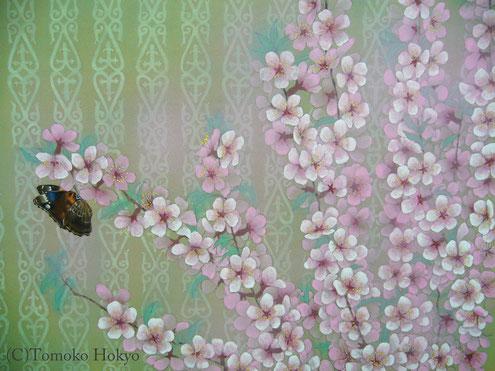 カザフスタンの桜 F6 紙本岩彩 126,000円