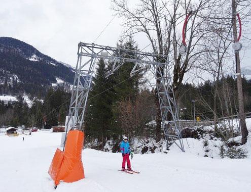 Schleppliftanlage in Lainach