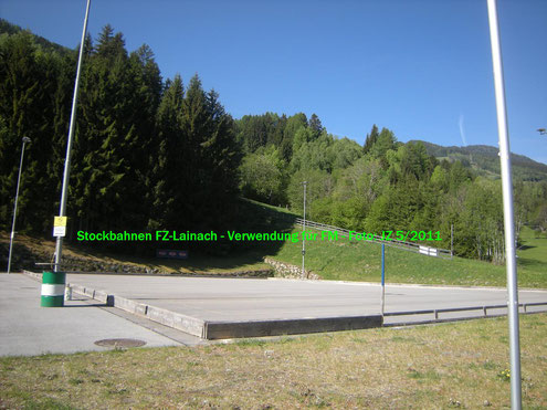 Eis- bzw. Asphaltstockbahnen in Lainach