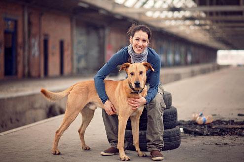 Patrizia Pötter mit ihrem Hund Paul | Team denkbar! - Aachen