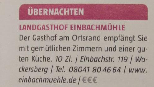 """Erschienen im neuen Reiseführer """"Oberbayern"""" von MARCO POLO"""