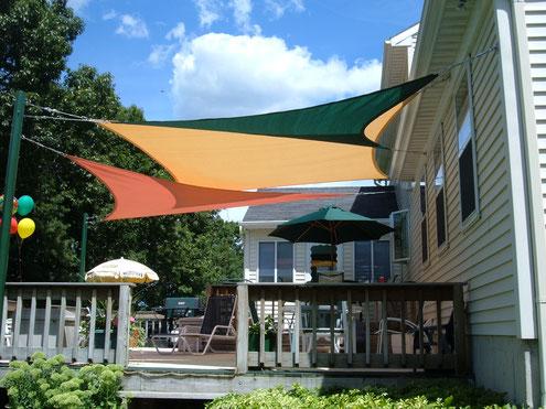 vela ombreggiante +tenda +sole + ombra +riparo +impermeabile