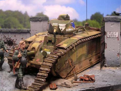 Ersatzkettenglieder, Werkzeug zeugen von der überstürzten Flucht der Franzosen.