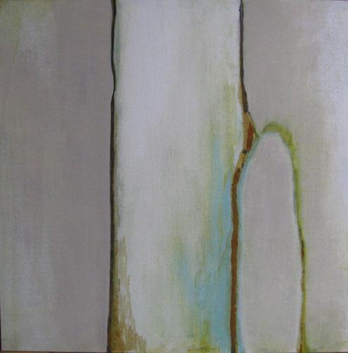 Nr. 2011-HO-004: 80 x 80 cm, Acryl, Strukturmasse, Rosteffekt auf MDF