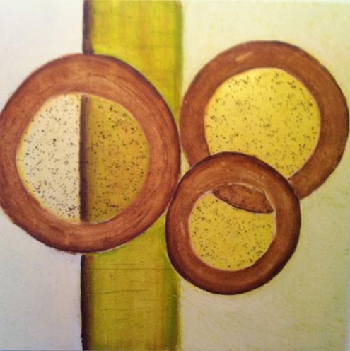 Nr. 2011-HO-009: 80 x 80 cm, Acryl, Specksteinmehl, Rost auf MDF