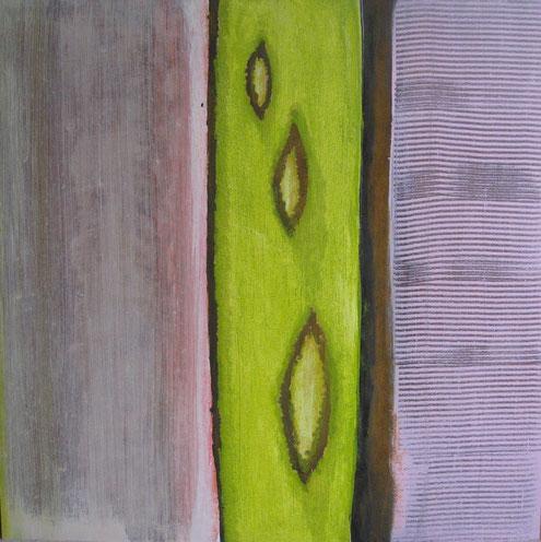 Nr. 2011-HO-006: 80 x 80 cm, Acryl, Strukturmasse, Rosteffekt auf MDF