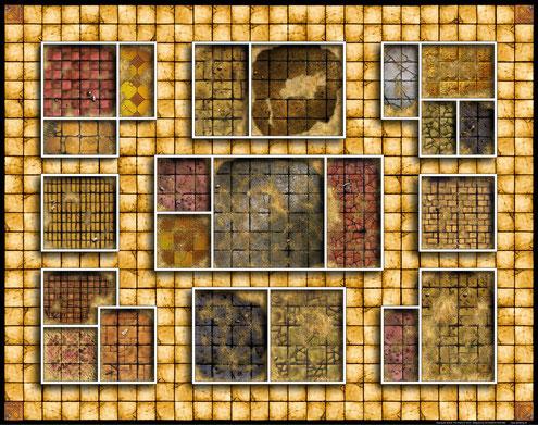 Plateau de jeu Héroquest africain