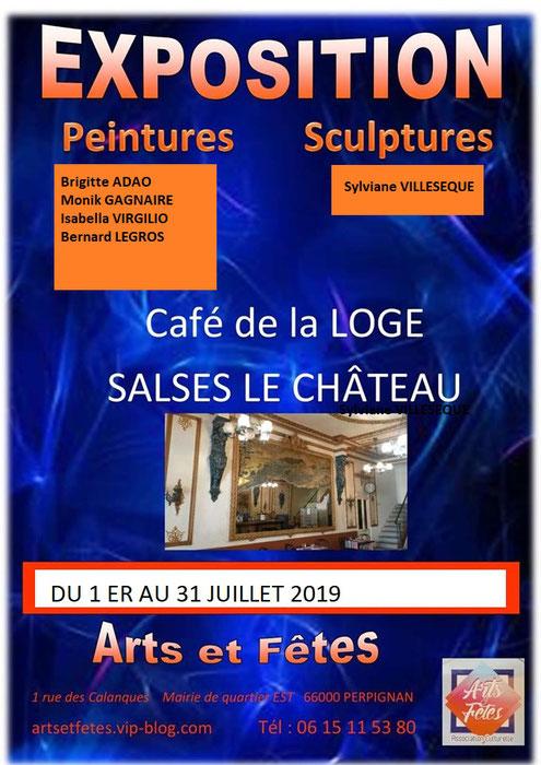 Exposition artiste à Salses le Château dans les Pyrénées Orientales