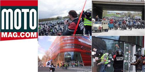 Motomag.com - Actions de la FFMC le 17 avril 2016 contre le Contrôle Technique et les interdictions de circuler dans Paris