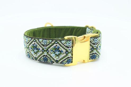 Vroni&Hias bleugrün  in 40mm Breite, mit Beschlägen in gold