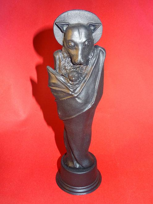 """Das """"Teufelstier"""" in Gestalt einer gotischen Madonna"""