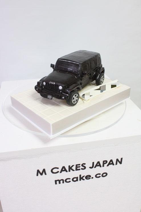 #車ケーキ #ジープ #ラングラー #アメ車 #SUV #carcake #jeep #wrangler #wranglerunlimited #blackcar #cake #gateau #torta #sculptedcake #japanesemade #🇯🇵