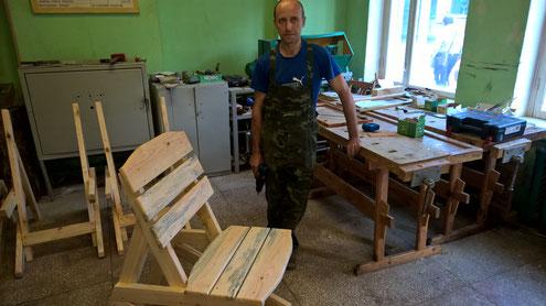 Besuch des Berufsschulkolleg in Vileyka. Es ist eine Ausbildungsstätte für viele Berufe.