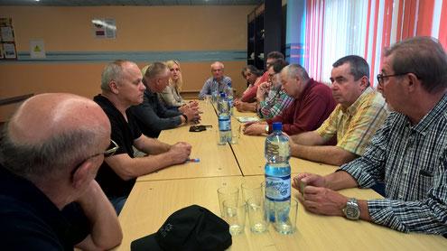 Begrüßung durch den Direktor desBerufsschulkolleg's in Vileyka.