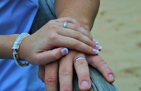 mains entrelacées