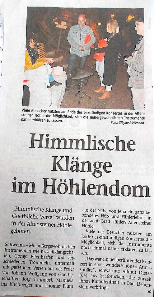 Thüringer Zeitung 31.8.2015