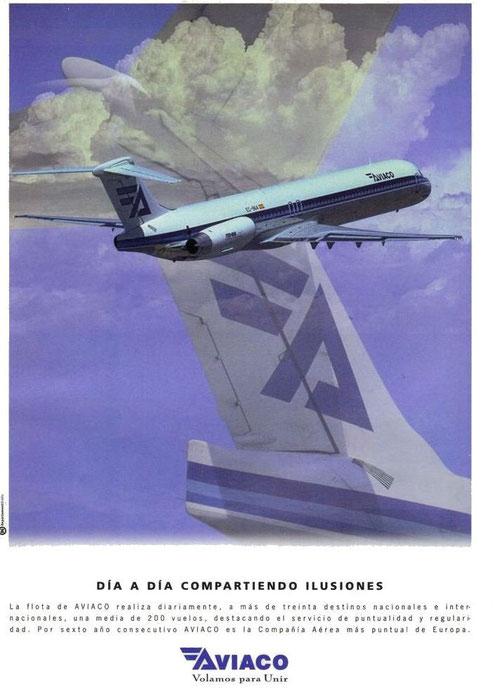Die MD-88 als Werbeträger!/Courtesy: Aviaco
