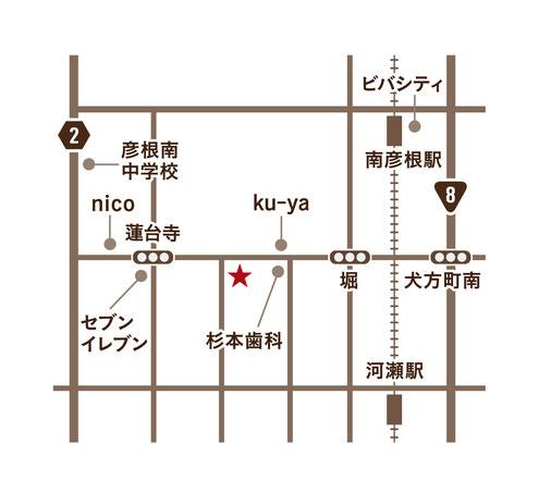 森森の美容室 行き方 地図 場所