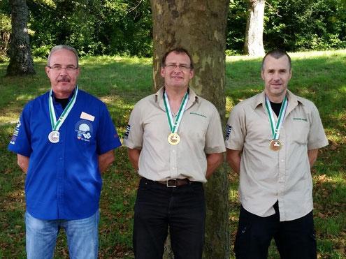 1er Pierre-François Perren (Froideville Tir Sportif), 2ème Gilbert Chabloz (Froideville Tir Sportif), 3ème Gilbert Dizerens (Froideville Tir Sportif)