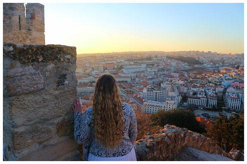 Aussicht Castelo de Sao Jorge - Lissabon
