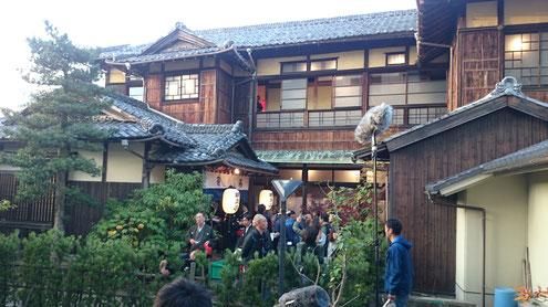 聚幸菴(じゅこうあん)の映画撮影風景
