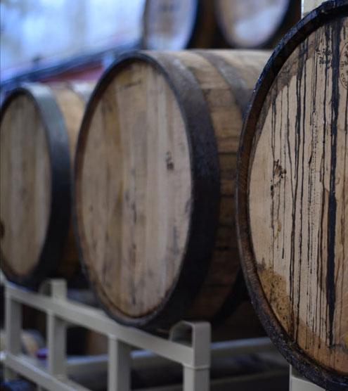 Barricas de Bourbon.