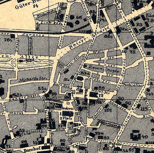Peiner Straße: oben Planmitte
