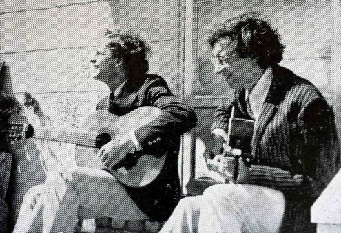 Jim Meyers ( left ) playing with Bob