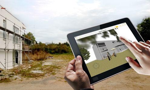 Foto von mb AEC Software. Benutzung der Jonny- App.