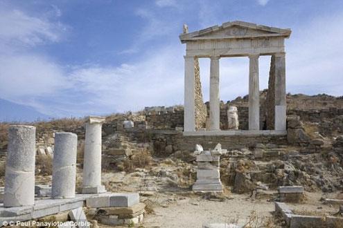 Ruines Délos Grèce