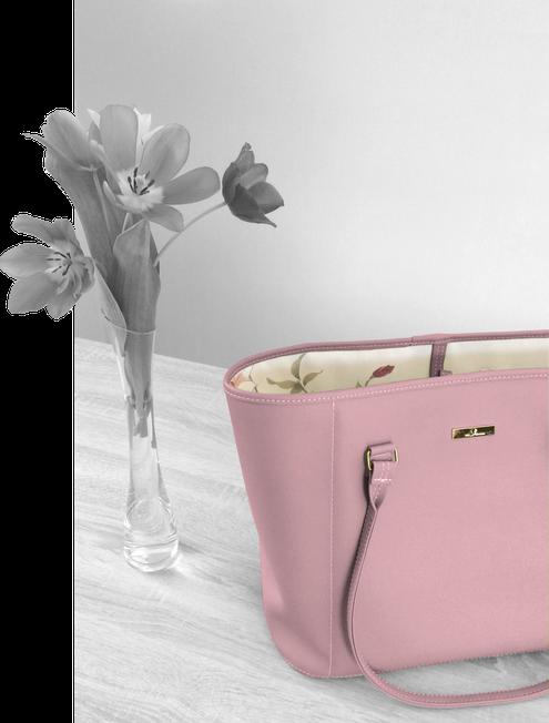 Shopper in zartem Rosa - eine schöne Diensttasche und Versammlungstasche
