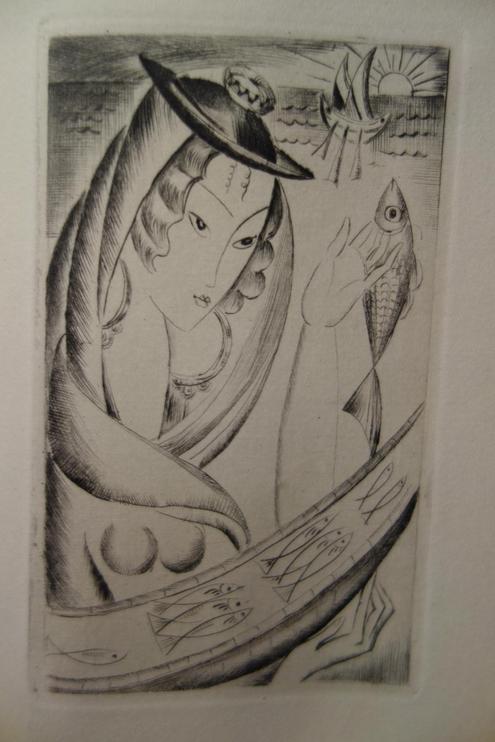 Valéry LARBAUD, Caderno, Au Sans Pareil, 1927, pointes sèches de Mily POSSOZ, livre rare, édition originale