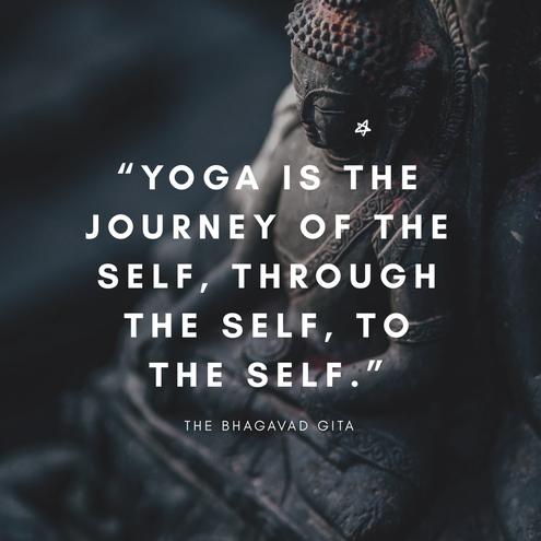 Yoga ist die Reise des Selbst, durch das Selbst zum Selbst.
