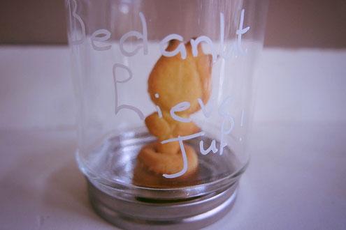 Bedankt juf / meester; 3d koekjes; koekje in een pot;