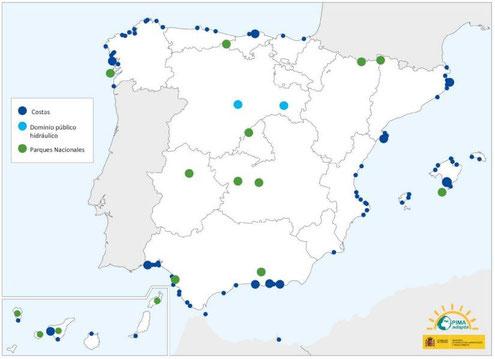 Mapa de actuaciones de PIMA Adapta