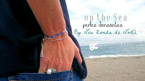 bracelet, soie, perles d'argent, creation, Les Ronds de LolA