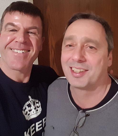 Mit André Kiefner (rechts), ehemaliger DDR-Spitzenathlet Wasserball, am 13.2.17