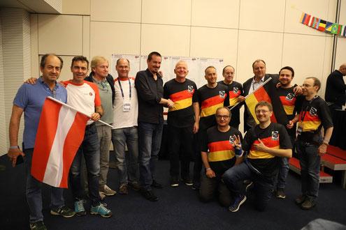 Die Finalisten Österreich und Deutschland