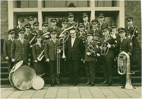 Städtischer Musikverein Erkelenz beim Landesmusikfest 1967 unter Dirigent Jungbluth