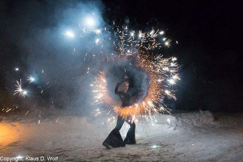 Feuershow auf dem Predigtstuhl, Firmenevent, Eventfotograf München