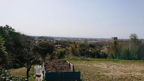 東谷山16号墳からの眺めは絶景。