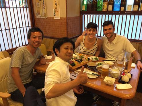 Tadashi, Hiro, Iria, Oscar