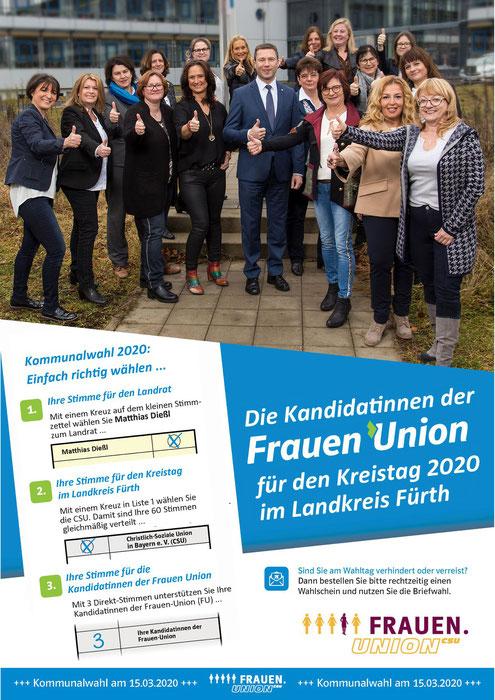 Frauen Union Kreisverband Fürth-Land: Die Kandidatinnen der Frauen Union für den Landkreis Fürth