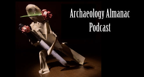 Archaeology almanac podcast paper bag tango with sharpie