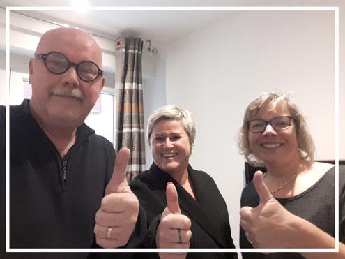 """Avec mes clients Fabienne & Jean Horny - gîte """"l'Atelier du Tonnelier"""" à Ribeauvillé"""