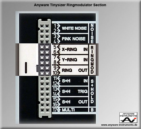 TINYSIZER -  ringmodulator analog modular synthesizer module