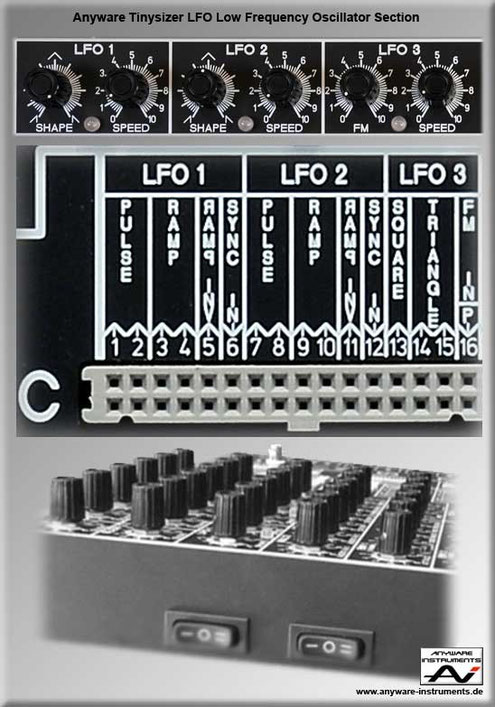 TINYSIZER - low frequency oscillator LFO analog modular synthesizer module